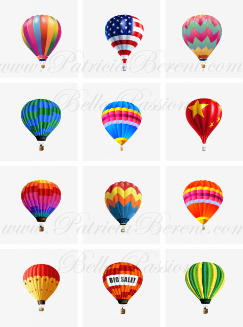 Floating hot air balloons 2 Text