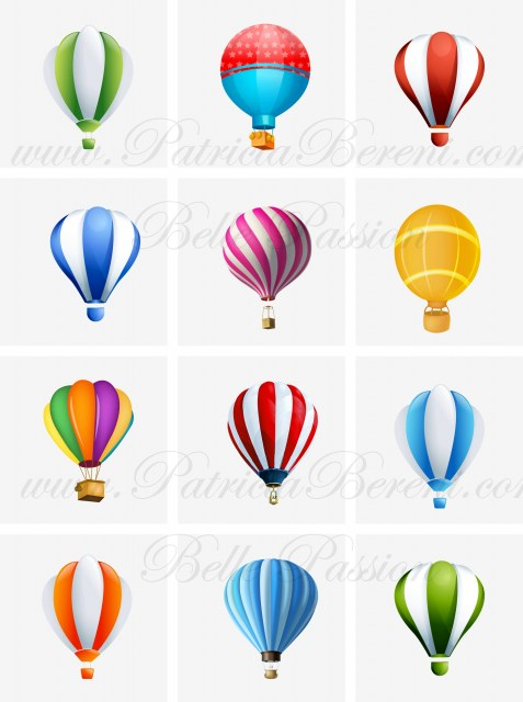 Floating hot air balloons 3 Text